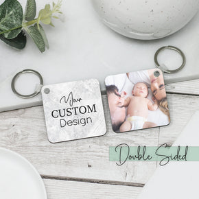 Personalised Any Message Photo Keyring - Shop Personalised Engraved Gifts & Customised Cufflinks | From Willow