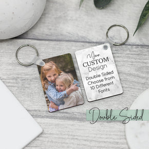 Personalised Double Sided Photo Keyring With Message - From Willow | Personalised Gifts