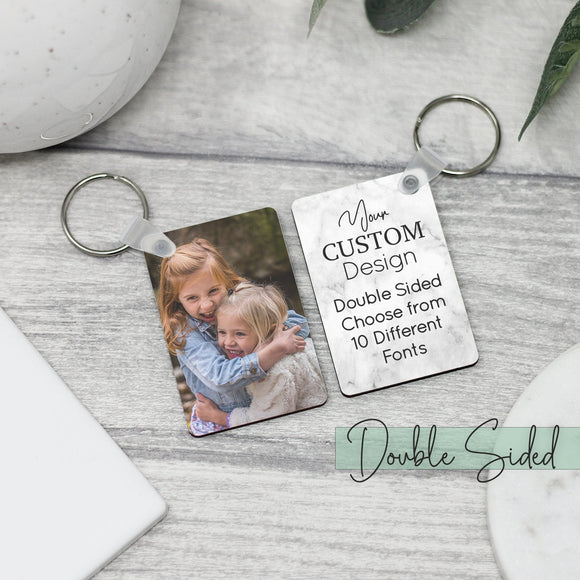 Personalised Double Sided Photo Keyring With Message - Shop Personalised Engraved Gifts & Customised Cufflinks | From Willow