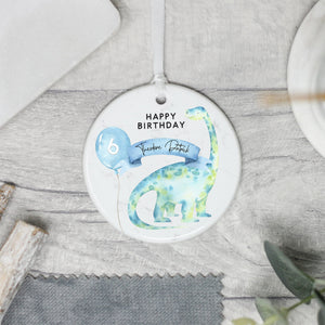 Personalised Happy Birthday Keepsake Gift, Dinosaur Birthday Gift - Shop Personalised Engraved Gifts & Customised Cufflinks | From Willow