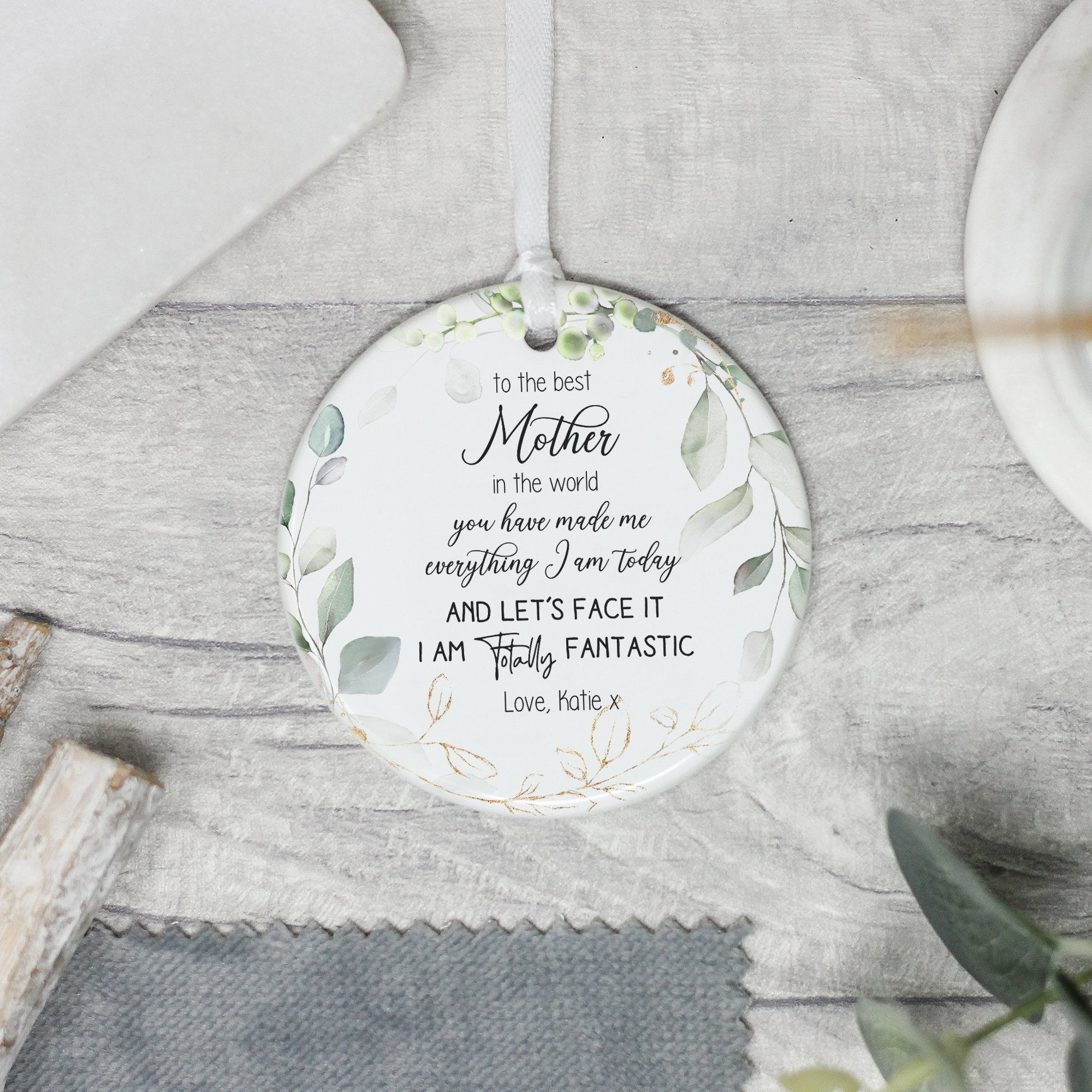 Personalised Ceramic Quote for Mum Personalised Mother/'s Day Keepsake Quote Mum Quote Gift Mother/'s Keepsake Mother/'s Day Gift Keepsake