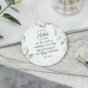 Personalised Mother's Day Ceramic Quote Keepsake - From Willow | Personalised Gifts