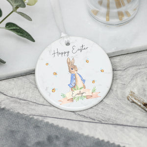 Personalised Easter Decoration, Ceramic Easter Rabbit Gift - Shop Personalised Engraved Gifts & Customised Cufflinks | From Willow