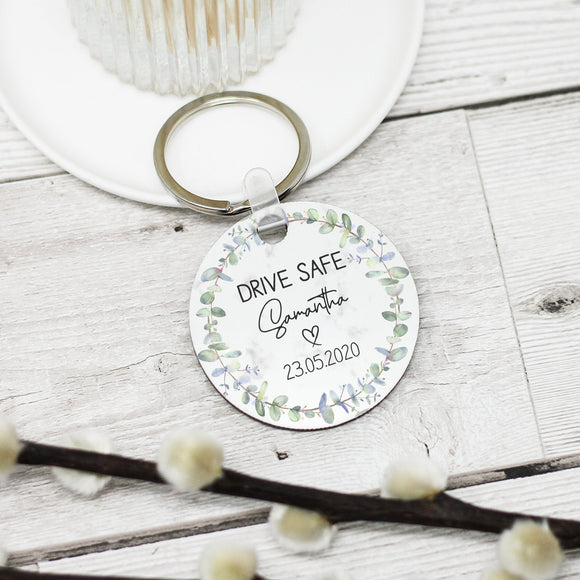 Personalised Drive Safe Keyring - Shop Personalised Engraved Gifts & Customised Cufflinks | From Willow