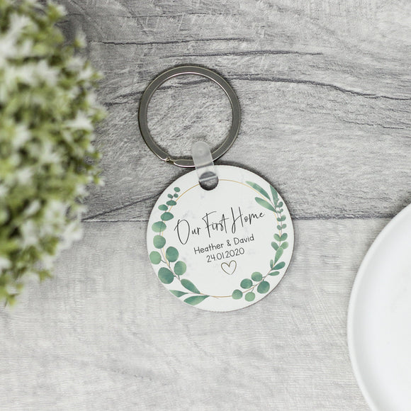 Personalised Our First Home Keyring New Home Keychain - Shop Personalised Engraved Gifts & Customised Cufflinks | From Willow