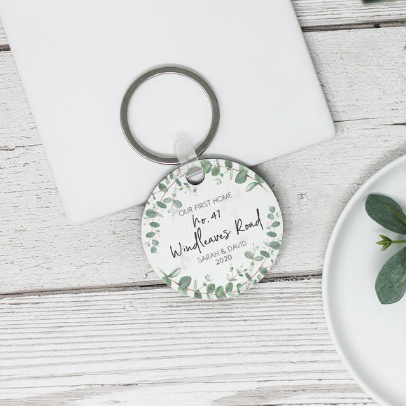 Personalised Our First Home New Home Keyring - Shop Personalised Engraved Gifts & Customised Cufflinks | From Willow