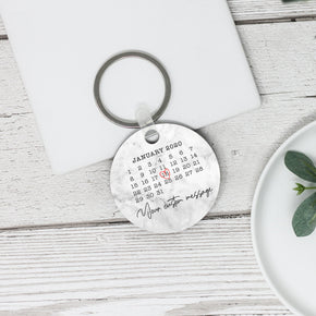 Personalised Special Date Calendar Keyring - Shop Personalised Engraved Gifts & Customised Cufflinks | From Willow
