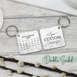 Personalised Calendar & Message Keychain - Shop Personalised Engraved Gifts & Customised Cufflinks | From Willow