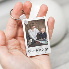 Personalised Photo and Custom Message Keyring - From Willow | Personalised Gifts