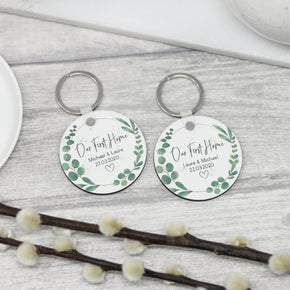 2x Personalised Our First Home Keyrings New Home Keychains - From Willow | Personalised Gifts