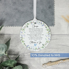 Personalised NHS Thank You Keepsake Quote - Keyworker Gift - Shop Personalised Engraved Gifts & Customised Cufflinks | From Willow