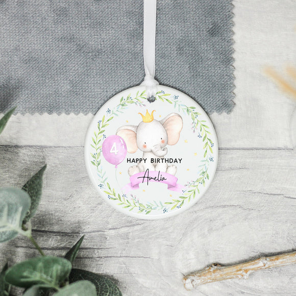 Personalised Happy Birthday Keepsake Gift, Baby Elephant Birthday Gift - Shop Personalised Engraved Gifts & Customised Cufflinks | From Willow