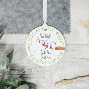 Personalised Welcome To The World Gift, New Baby Gift - Shop Personalised Engraved Gifts & Customised Cufflinks | From Willow