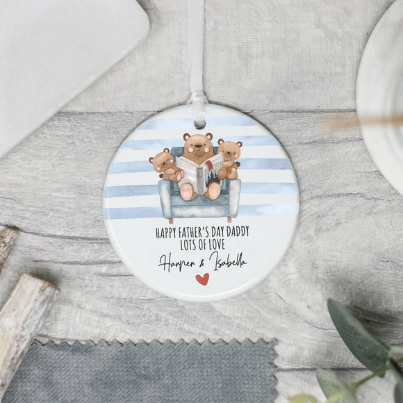 Personalised Father's Day Teddy Bear Themed Gift - Shop Personalised Engraved Gifts & Customised Cufflinks | From Willow