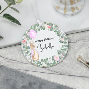 Personalised Baby Girl's Birthday Keepsake Rabbit Gift - Shop Personalised Engraved Gifts & Customised Cufflinks | From Willow