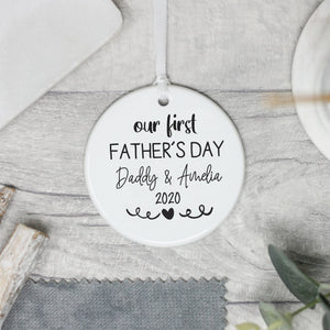 Personalised First Father's Day Keepsake Gift 1st Father's Day - Shop Personalised Engraved Gifts & Customised Cufflinks | From Willow