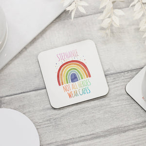 Personalised Rainbow Coaster - NHS Nurse Coaster - Shop Personalised Engraved Gifts & Customised Cufflinks | From Willow