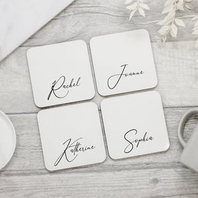 Personalised Custom Name Coaster - Shop Personalised Engraved Gifts & Customised Cufflinks | From Willow