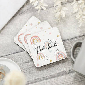 Personalised Rainbow Name Coaster - Shop Personalised Engraved Gifts & Customised Cufflinks | From Willow