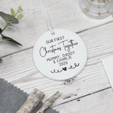 Personalised First Christmas Together Decoration, 1st Christmas Ornament Keepsake