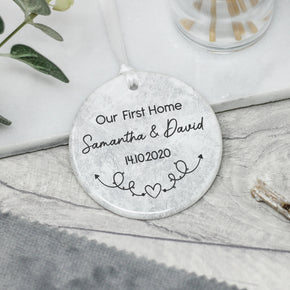 Personalised New Home Keepsake Gift, First Home Keepsake Decoration