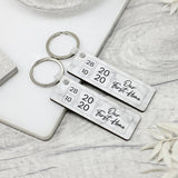 2x Personalised First Home Keyrings, New Home Keyrings