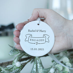 Personalised Engagement Date Ceramic Keepsake - From Willow | Personalised Gifts