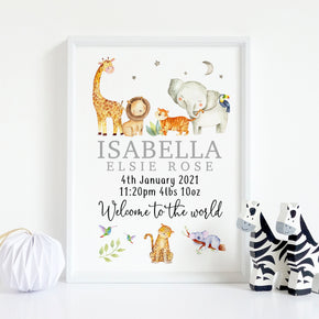 Personalised Welcome To The World Print, New Baby Print, New Baby Gift, Gift For New Baby, Baby Name Print, New Parents Gift, Baby Gift