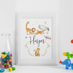 Personalised Children's Print, Custom Name Print, Kids Bedroom Print, Gift For New Baby, Baby Name Print, New Baby Gift, Kids Poster