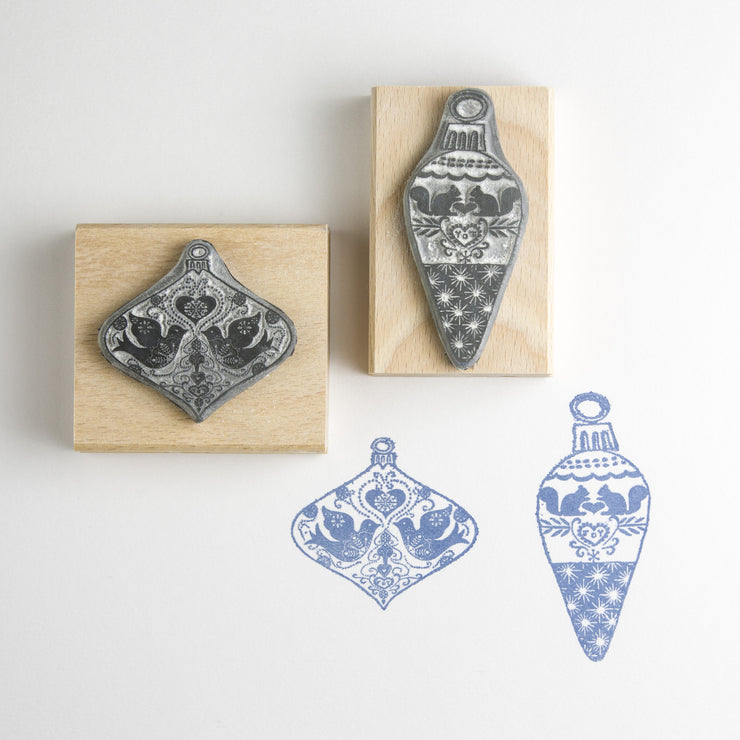 Small Christmas Bauble Rubber Stamps