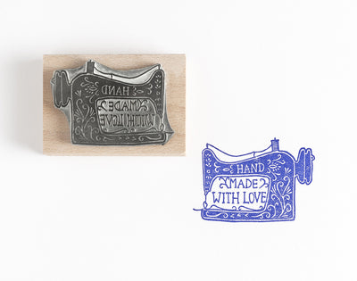 Hand Made Sewing Machine Rubber Stamp