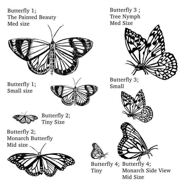 Butterfly Rubber Stamp Monarch Craft Gift Nature