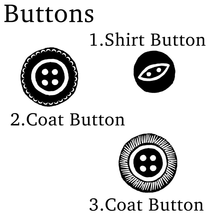 Buttons Rubber Stamps, Vintage Button Stamp, Haberdashery Rubber Stamps, Craft Rubber Stamps