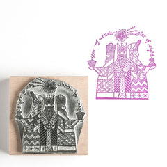 We Three Kings Christmas Rubber Stamp