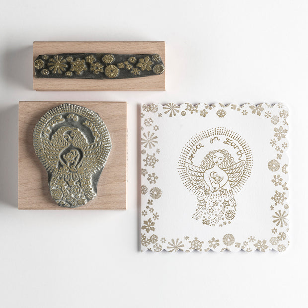 Christmas Rubber Stamp Peace Angel