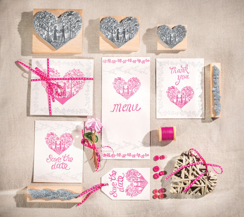 Pretty Flower Borders Rubber Stamps