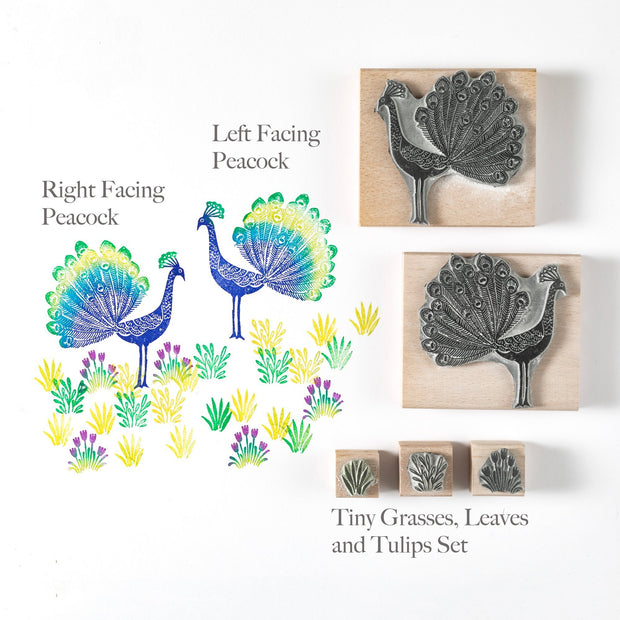 Peacock Rubber Stamp