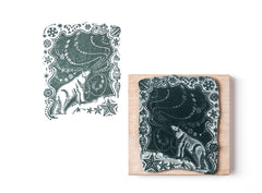 Polar Bear and the Northern Lights Christmas Rubber Stamp