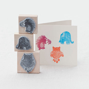 Bird and animal Rubber Stamps