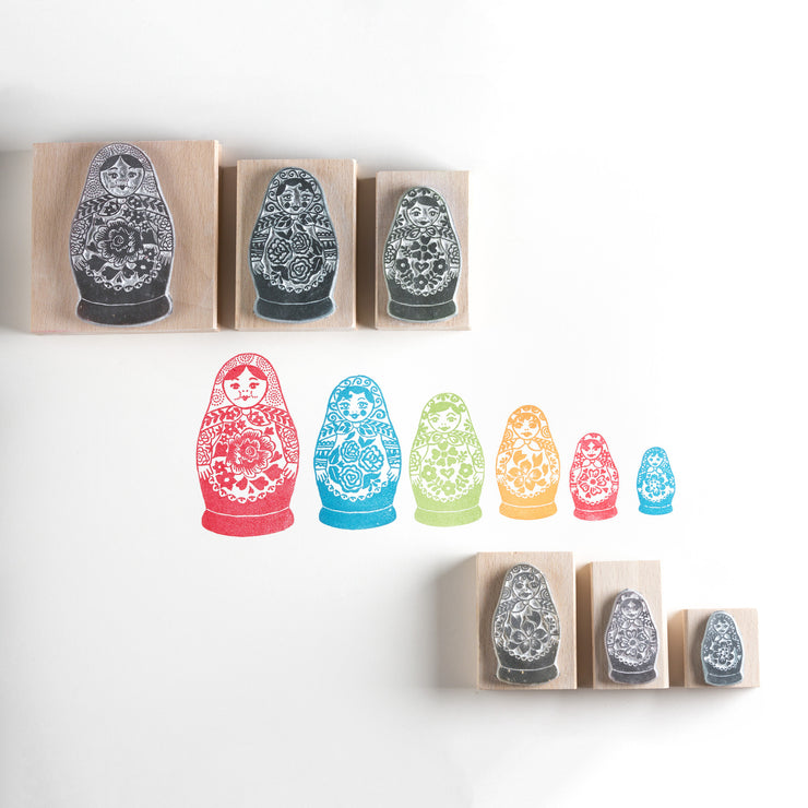 Russian Dolls Rubber Stamp