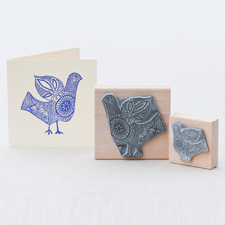 Stitch Bird Rubber Stamp