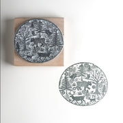 Woodland Walk  Christmas Rubber Stamp