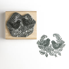 Birds in the Bracken Rubber Stamp