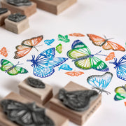 Butterfly Rubber Stamp, Butterfly Stamp, Monarch Butterfly, Craft Gift, Nature Stamp, Insect Stamp, wedding stamp