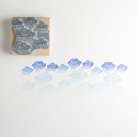Clouds Rubber Stamp