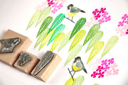 Coal Tit Bird Rubber Stamp, little bird stamp, English Garden Bird Stamp.
