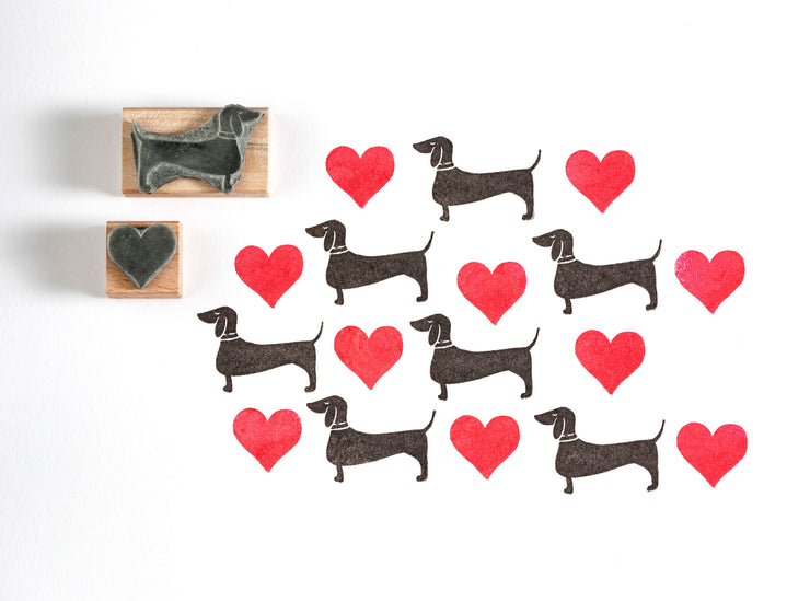 Dachshund Rubber Stamp, Sausage Dog Rubber Stamp, Dog Stamp