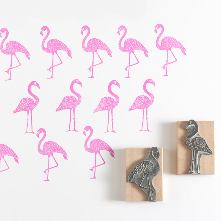 Flamingo Rubber Stamp
