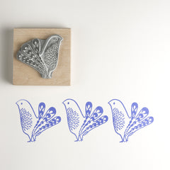 Bird rubber stamp