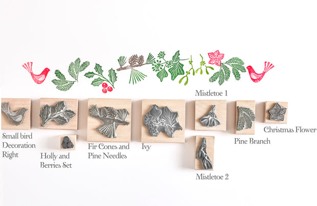 Christmas Garland Foliage Rubber Stamps